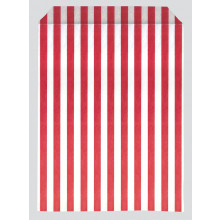 Red Stripe Paper Bags 22x35cm Pack 500