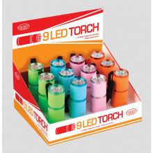 LED Metal Grip Torch Asst