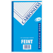 Club Carbonless Duplicate Book Feint 8x5