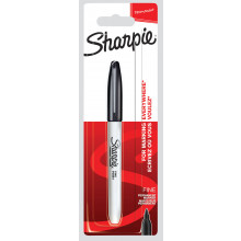 Sharpie Marker Pen Fine Black Carded
