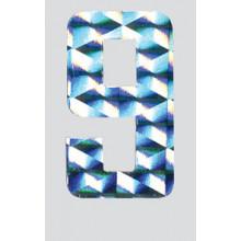 Roman Labels Holographic Numerals No.9
