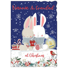 Nannie & Grandad Cute 50 Xmas Card