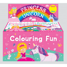 Colouring Fun Books Princess & Unicorn