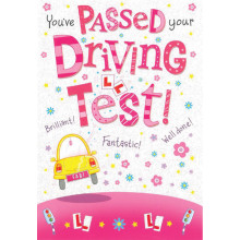 Greetings Cards Driving Test Pass Female