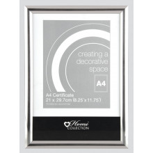 Silver Photo Frame A4 Certificate