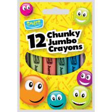 Smiles 12 Chunky Jumbo Crayons