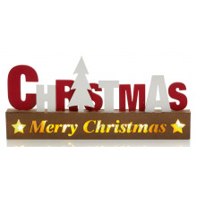 X4002 35cm Lit Wooden Xmas Decoration