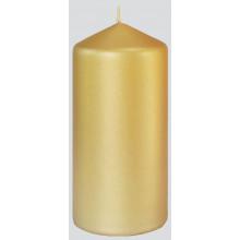XD05605 Pillar Candle Matt Gold 7x15cm