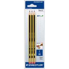 Staedtler Noris HB Rubber Tip Pencils 3s