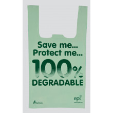 "Degradable Shopping Bags 11x17x21"" 100s"