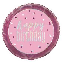 Foil Balloos Pink Birthday Round