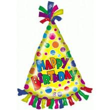 """Party Hat Foil Balloon 34"""" Shape"""