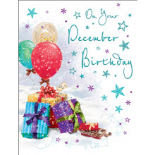 December B'day 50 Christmas Cards