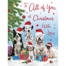 To All of You Dogs 50 Christmas Cards