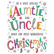 Auntie+Uncle Trad 60 Christmas Cards