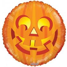 "Foil Balloon Orange Pumpkin 18"""