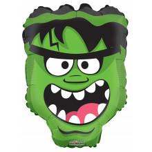 """Foil Balloon Green Monster Head 18"""""""