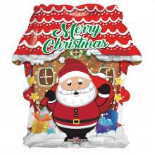 """Foil Balloon Santas House 18"""""""