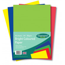 Diamond Value A4 Coloured Paper 40's 80gsm