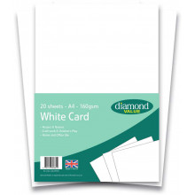 Diamond Value A4 White Card 20's 160gsm