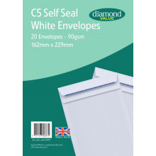 Diamond Value C5 White Self Seal Envelopes