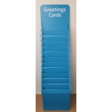 Cardboard Card Stand 12 Tier 1.5' Blue