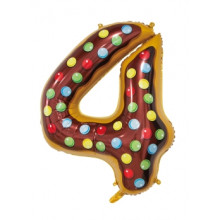 """30"""" Biscuit Number 4 Foil Balloon"""