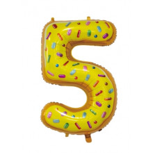 """30"""" Biscuit Number 5 Foil Balloon"""