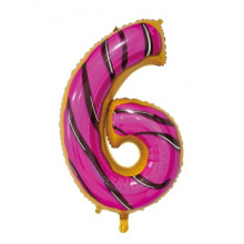 """30"""" Biscuit Number 6 Foil Balloon"""