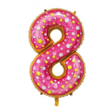 """30"""" Biscuit Number 8 Foil Balloon"""