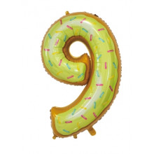 """30"""" Biscuit Number 9 Foil Balloon"""