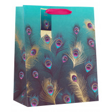 Gift Bag Lavish Feathers Large