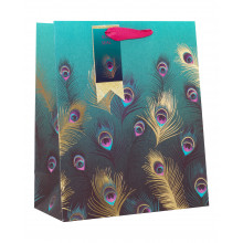 Gift Bag Lavish Feathers Medium