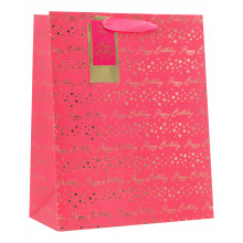 Gift Bag Birthday Pink Large