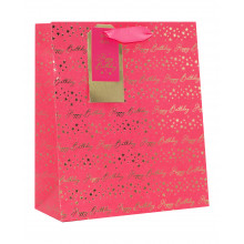 Gift Bag Birthday Pink Medium