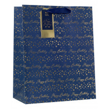 Gift Bag Birthday Blue Large