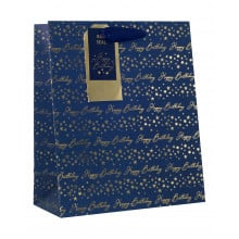 Gift Bag Birthday Blue Medium