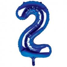 "34"" Dark Blue Number 2 Foil Balloon"