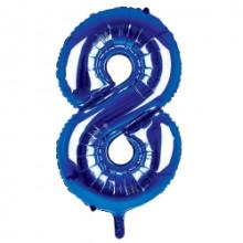 "34"" Dark Blue Number 8 Foil Balloon"