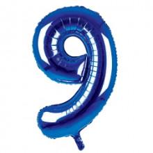 "34"" Dark Blue Number 9 Foil Balloon"