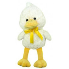 EA2007 25cm Yellow Duck With Ribbon