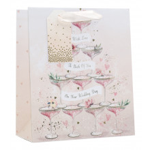 Gift Bag Wedding Champagne Medium