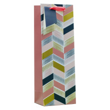 Gift Bag Pink Geometric Bottle