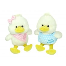 Ducks With Pink & Blue Scarf