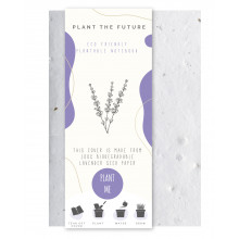 Lavender Seed - Eco Friendly Plantable A5 Notebook