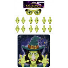 HW1903 Halloween Stick The Nose on The Witch Game