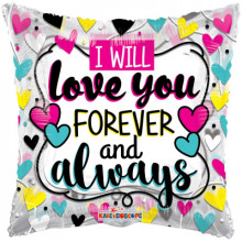 Love You Forever Pillow Foil Balloon