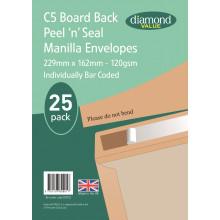 Diamond Value C5 Board Back Envelopes 120gsm