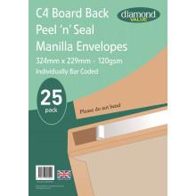 Diamond Value C4 Board Back Envelopes 120gsm