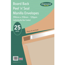 Diamond Value Board Back Envelopes 394x318mm 120gsm